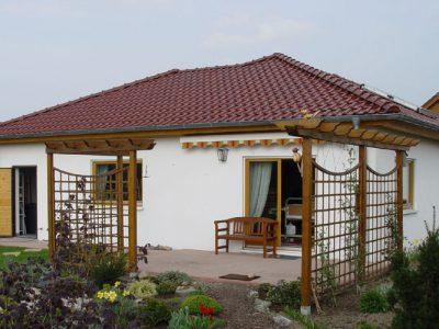 Winkelbungalow BERYLL 115 - Die Terrasse