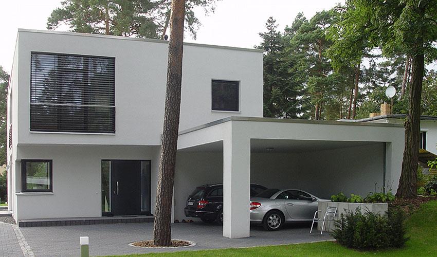 Carport bauhaus amazing realtor house plan the hoover for Bauhaus carport