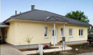 Bungalow OPAL 124 - Der Blick auf den Hauseingang