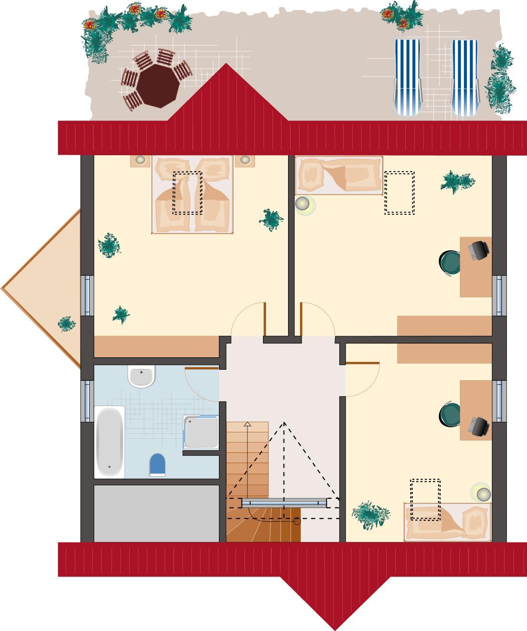 Landhaus Rubin 156 - Dachgeschoss