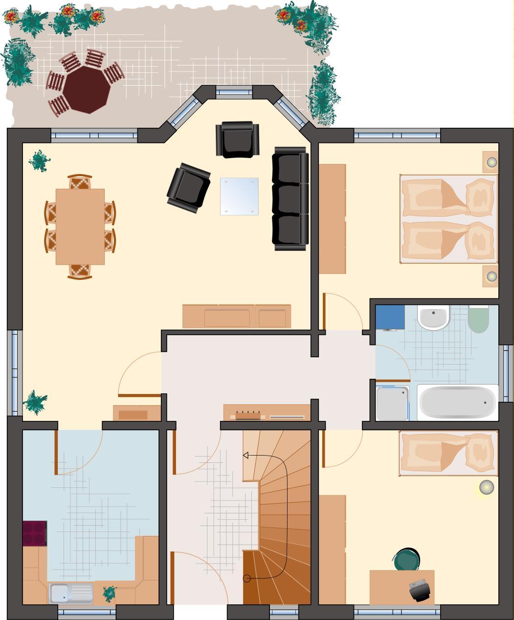 Landhaus Rubin 187- Erdgeschoss