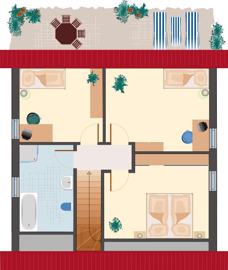 Klassiker-Stil: Saphir 118 - Dachgeschoss