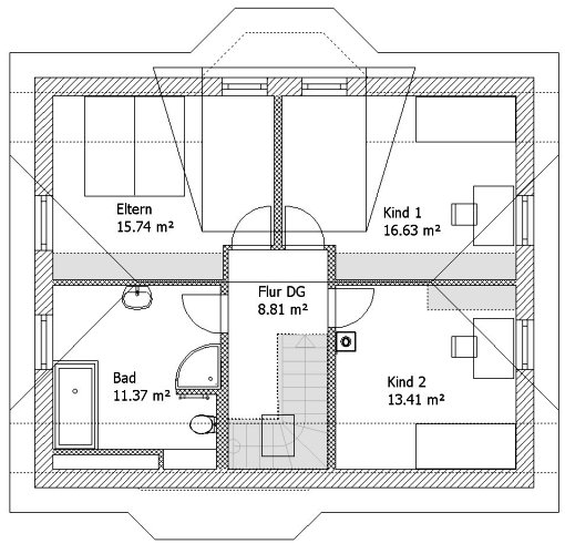 Massives Landhaus, Neukieritzsch 2008 - Dachgeschoss