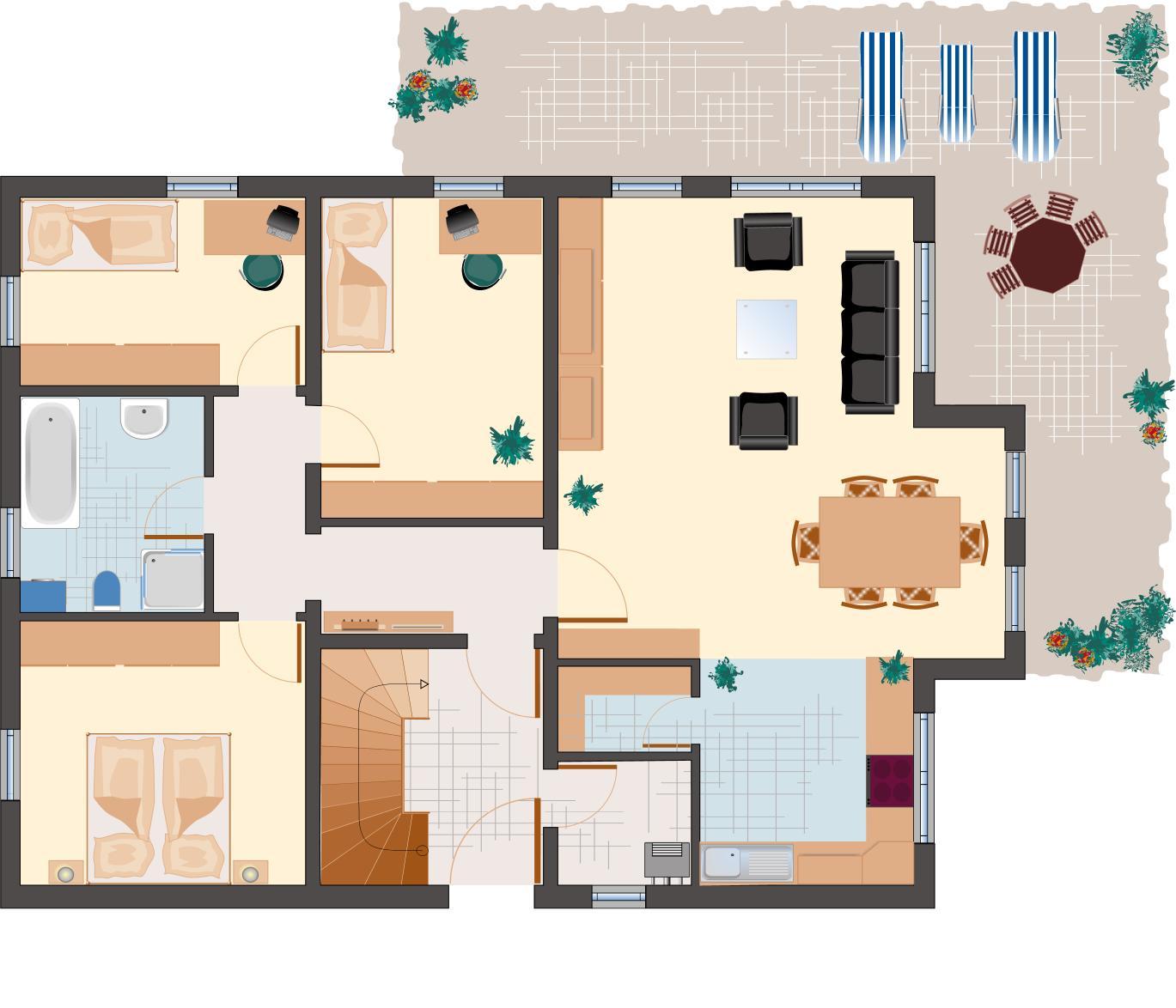 Architektenhaus: Amethyst 217 - Erdgeschoss