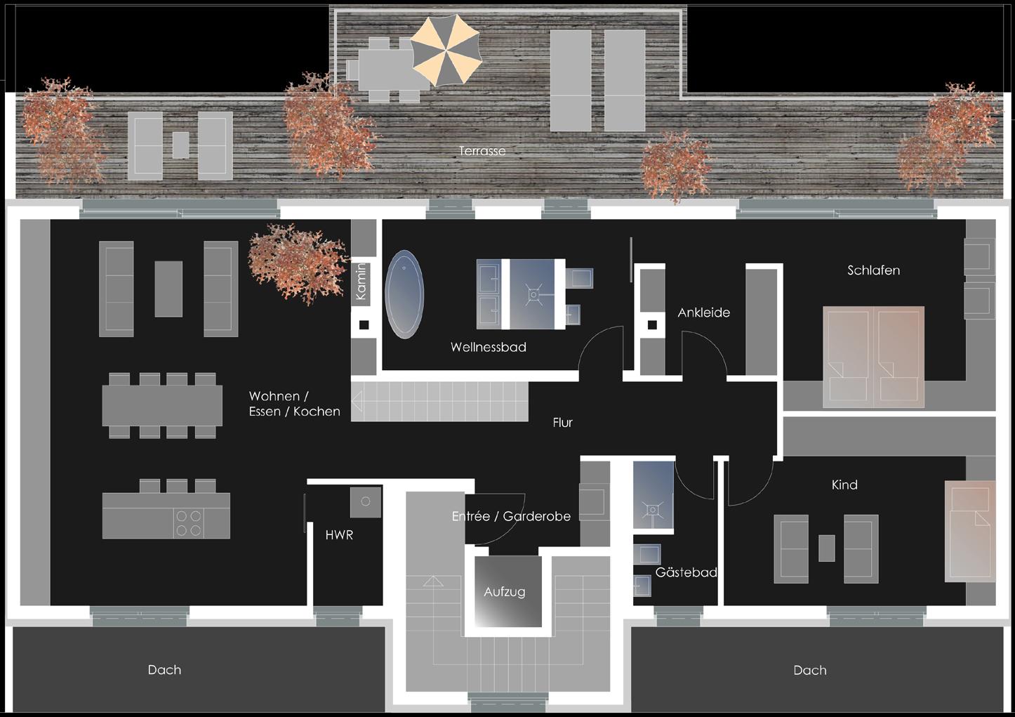 Mehrfamilienwohnhaus Endersstrasse - Penthouse- 5. OG