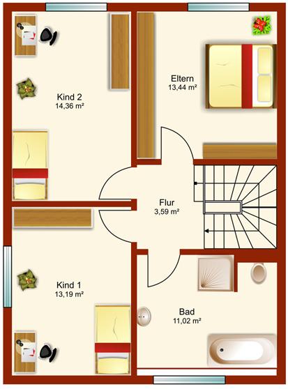 Doppelhaus Tsavorit 118 - Dachgeschoss
