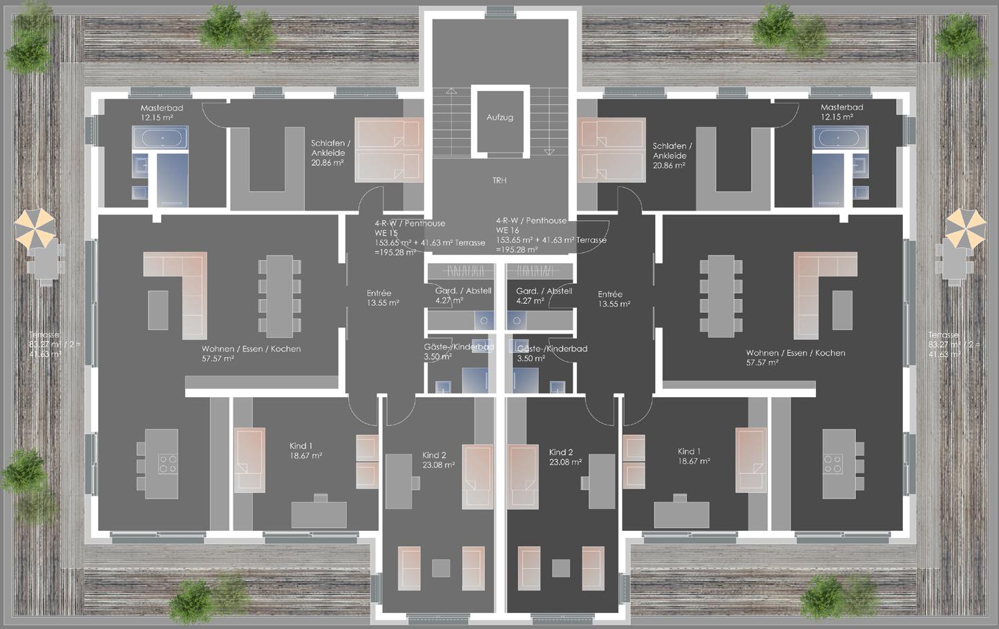 Neubau Mehrfamilienwohnhaus Kurt-Kresse-Strasse - Penthouse