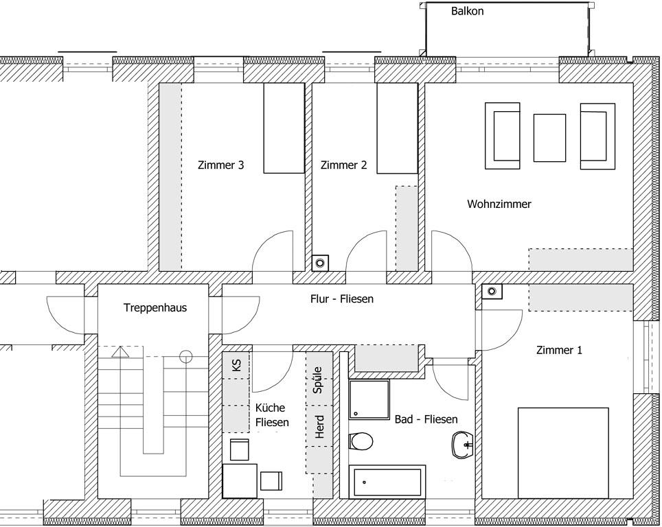 Sanierung MFH Schösserstrasse - Erd- und Obergeschoss