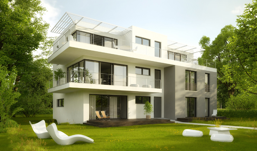 Wohn- und Geschäftshaus: Rendering 1