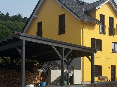 Massives Doppelhaus, Jena 2016 - Doppelhaushälfte mit Carport