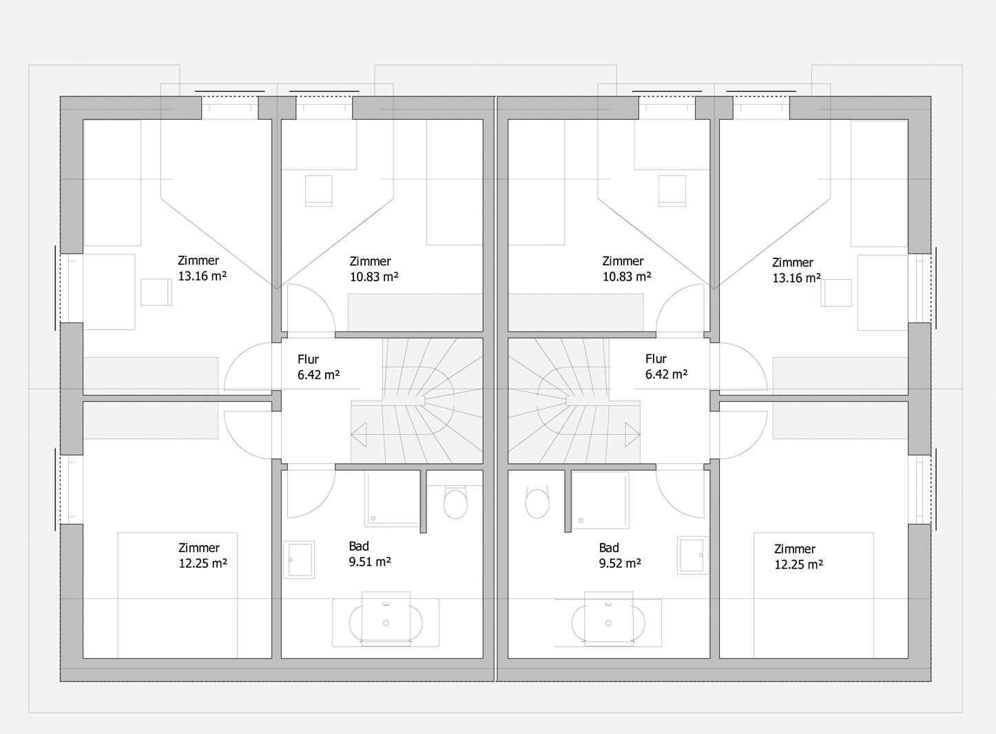 Doppelhaus Tsavorit 104 - Das Dachgeschoss