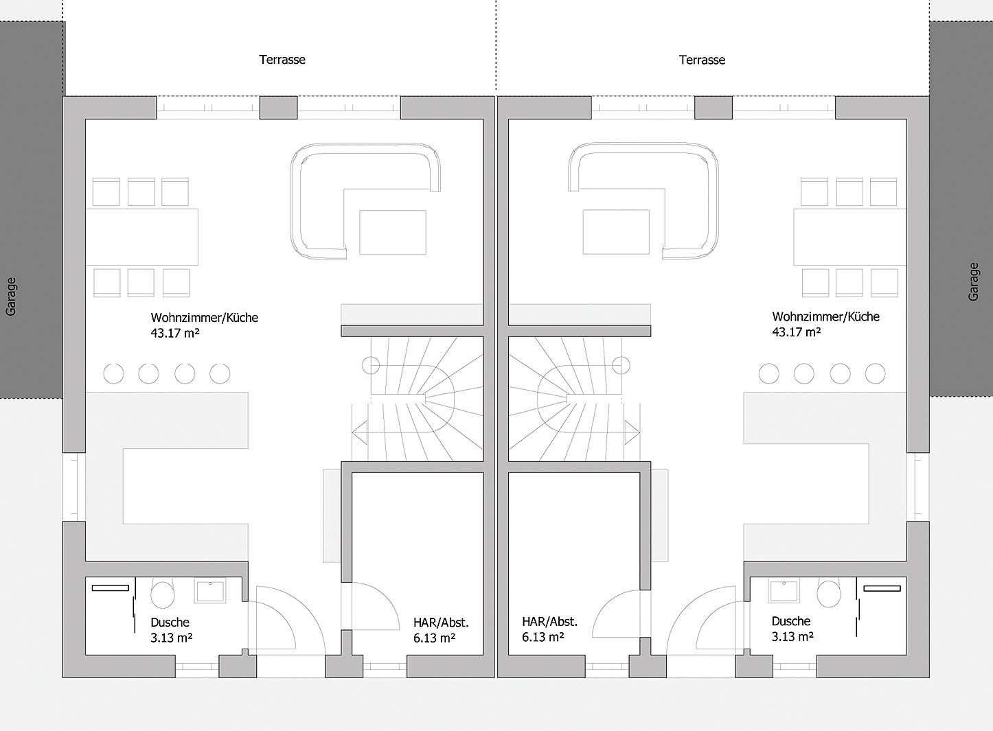 Doppelhaus Tsavorit 104 - Das Erdgeschoss